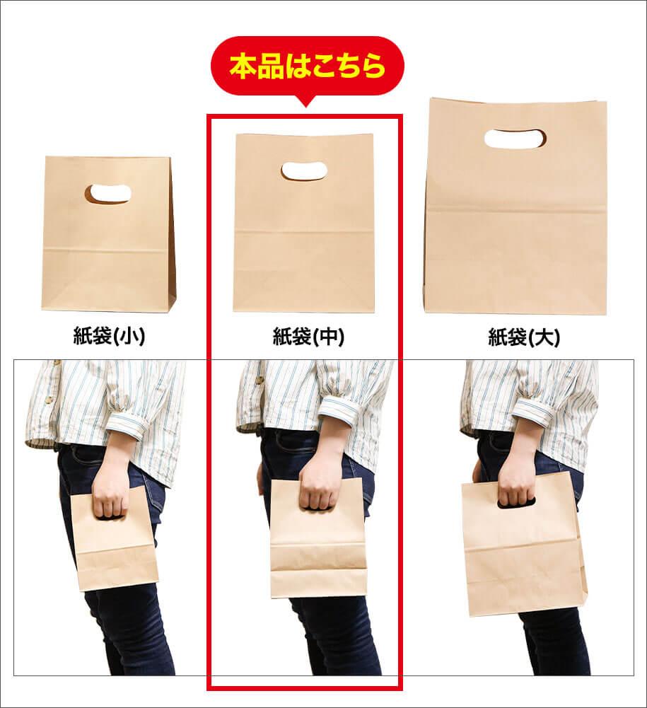 手提げ紙袋サイズ比較